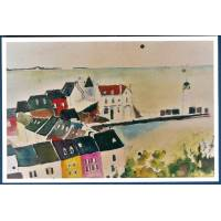 Carte Marion Kerignard Belle Ile Maisons colorées