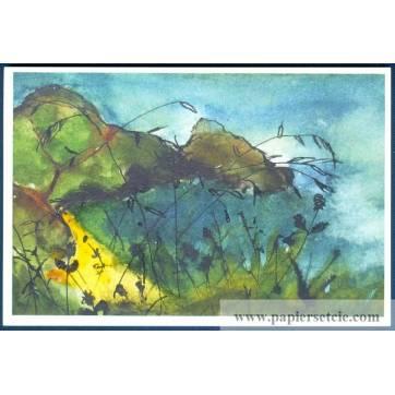 Carte Marion Kerignard Belle Ile Falaises colorées