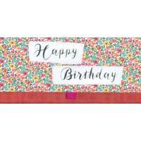 """Enveloppe cadeau """"Happy Birthday"""" Fleurs rouges"""