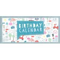Calendrier d'anniversaires perpétuel pliage accordéon Cities
