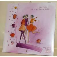 """Calendrier 2018 20 x 20 Anne-Sophie Rutsaert """"Une amie c'est un petit bout..."""""""