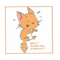"Carte artisanale simple Chaton ""J'ai failli oublier ton Anniv""..."