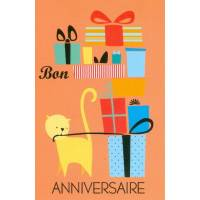Carte Alice de Page Bon Anniversaire Chat et Cadeaux