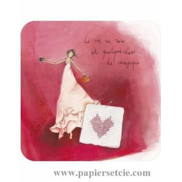 """Carte Anne-Sophie Rutsaert """"La vie en rose..."""""""