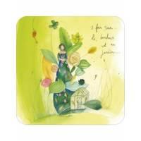 """Carte Anne-Sophie Rutsaert """"3 fois rien, le bonheur est au jardin"""""""