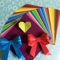 Papier Origami japonais Feuilles unies multicolores