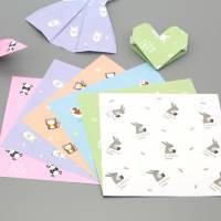 Papier Origami japonais Feuilles motif animaux
