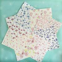 Papier Origami japonais Feuilles Liberty fleurs assorties