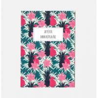"""Carte double Joyeux Anniversaire collection Rose Pivoine """"Azalées"""""""