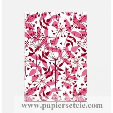 """Carte Joyeux Anniversaire collection Rose Pivoine """"Ombellifères"""""""