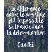 "Carte Citation Gandhi ""La différence entre le possible et l'impossible..."""