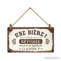 """Pancarte Panneau de Porte Humoristique """"Une Bière!"""""""