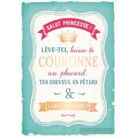 "Carte Citation Humour Vintage ""Salut Princesse""..."
