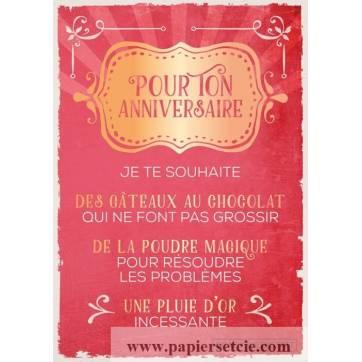 Carte Citation Humour Vintage Pour Ton Anniversaire Je Te Souhaite