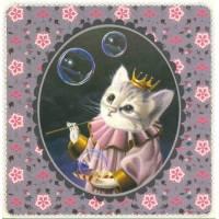 Carte d'art Gwenaëlle Trolez Chaton et bulles