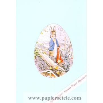 Carte double Pâques Peter Rabbit Jardinage