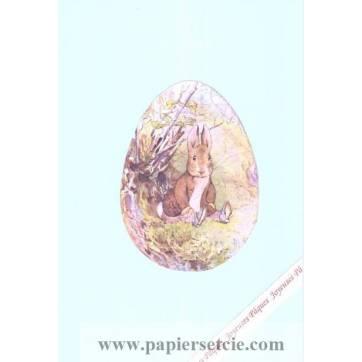 Carte double Pâques Peter Rabbit dans les bois