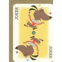 Carte anglaise double série carte à jouer Joker Hippopotames