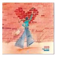 "Calendrier 2019 20 x 20 Anne-Sophie Rutsaert ""Aimer"""
