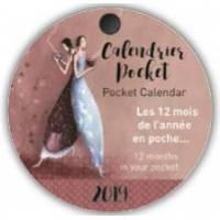 Calendrier 2019 rond diamètre 7,5 Gaëlle Boissonnard