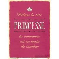 """Carnet citations vintage """"Relève la tête Princesse"""""""
