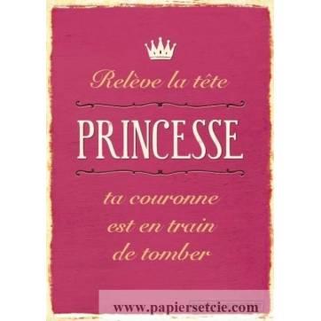 Carnet Citations Vintage Releve La Tete Princesse