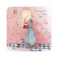 """Carte Anne-Sophie Rutsaert  """"Des bougies et un bonheur infini..""""."""