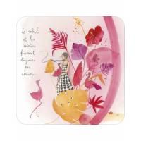 """Carte Anne-Sophie Rutsaert """"Le soleil et les cocotiers finissent toujours par arriver"""""""