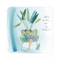 """Carte Anne-Sophie Rutsaert """"Soeurs de coeur...que du bonheur!"""""""