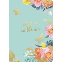 "Cahier A5 Louise Tiler fleuri ""Love is in the air"""