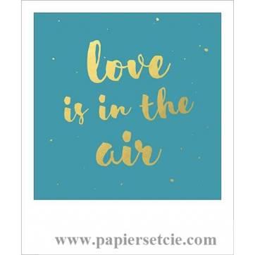 """Carte citation format polaroïd """"Love is in the air"""""""