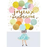 """Carte Louise Tiler Très joyeux Anniversaire """"Les Ballons"""""""