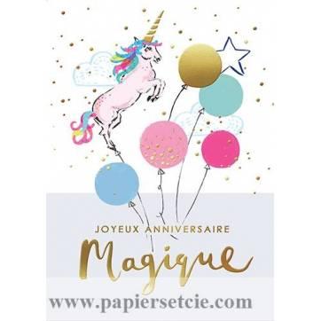 Carte Louise Tiler Joyeux Anniversaire Magique La Licorne
