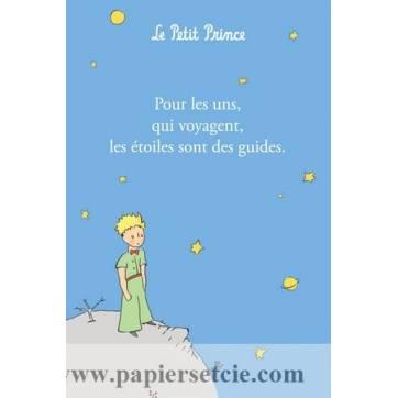 """Carte Citation Le Petit Prince """"Pour les uns qui voyagent, les étoiles sont des guides"""""""
