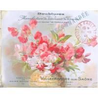 """Carte artisanale Vintage """"Pois de senteur"""""""