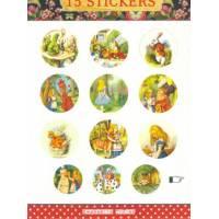 Stickers Gwenaëlle Trolez Alice au Pays des Merveilles