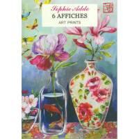 Pack de 6 Posters Affiches G Trolez Fleurs de Sophie Addé