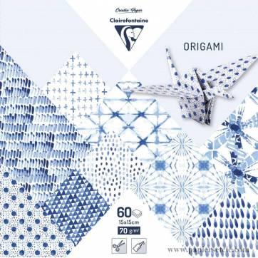 Papier Origami Clairefontaine Feuilles assorties Shibori