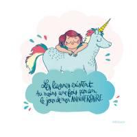 "Carte Mathou  ""Les Licornes existent..."""