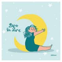 """Carte Mathou """"Dans la lune"""""""