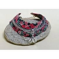 Bracelet Liberty Manchette Biais Liberty Wiltshire rouge