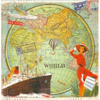 Carte d'art Gwenaëlle Trolez Tour du Monde