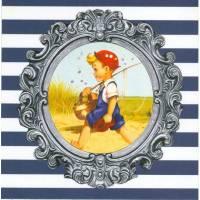 Carte d'art Gwenaëlle Trolez Le petit pêcheur