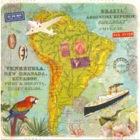Carte d'art Gwenaëlle Trolez Amérique du Sud