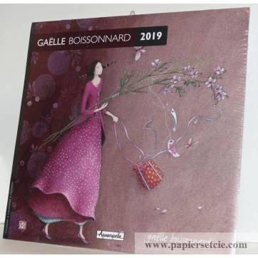 "Calendrier 2019 30 x 30 Gaëlle Boissonnard ""Fleurs roses"""
