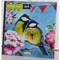 Calendrier 2019 16 x 16 Sophie Addé Fleurs et Oiseaux