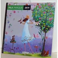 Calendrier 2019 16 x 16 Mila Marquis Musique dans les bois