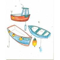 Carte à planter Hannah Marchant 3 Bateaux, Aneth