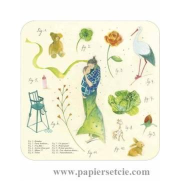 """Carte Anne-Sophie Rutsaert """"Un Bonheur immense"""""""