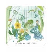 """Carte Anne-Sophie Rutsaert """"Le Jardin est tout vert"""""""